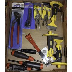 FLAT OF NEW ASSORTED HAND-TOOLS