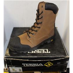 TERRA SAFETY WORK BOOKS, STEEL TOED SIZE 12