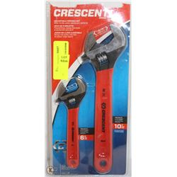 CRESCENT BRAND ADJUSTABLE WRENCH SET