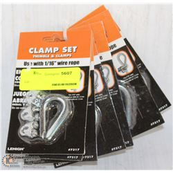 6 LEHIGH CLAMP SETS