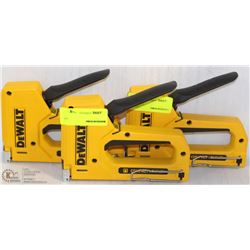 SET OF 3 DEWALT HAND STAPLERS