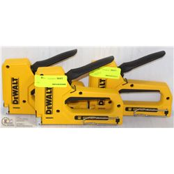 SET OF 3 DEWALT HAND STAPLERS, SMALL