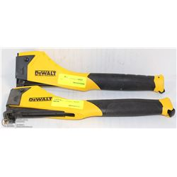 PAIR OF DEWALT HAMMER STAPLERS