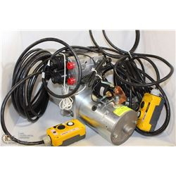 12V ELECTRIC HYDRAULIC PUMP WITH VALVING AND DUAL