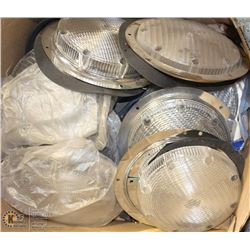 BOX OF ASSORTED 12V DOME LIGHTS