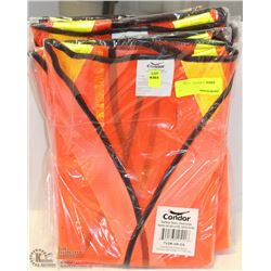 9 CONDOR SAFETY VESTS ALL OVERSIZED
