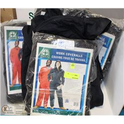 "5 SETS OF 'PUT IT ON"" SIZE 56 WORK COVERALLS"