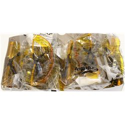 BOX OF 10 CONDOR SAFETY GLASSES HIGH VIS YELLOW
