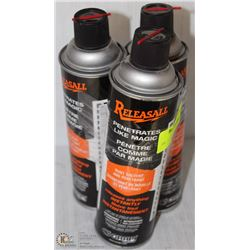 THREE 400ML CANS RELEASEALL RUST SOLVENT