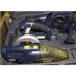 ESTATE RYOBI 18V TOOL KIT NO BATTERIES NO CHARGER