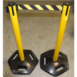 PAIR OF HI-VIZ TENSA-BARRIER BARRIERS