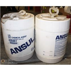 PAIR OF 19 L OF ANSUL WET CHEMICAL AGENT