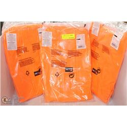 LOT OF 3 HI-VIZ  FIRE-RESISTANT FOX CREEK RAIN-