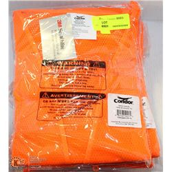 LOT OF 6 XL HI-VIZ CONDOR SAFETY VESTS