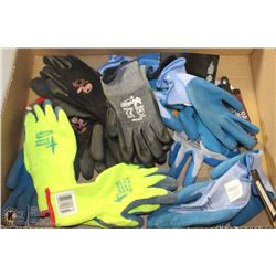 FLAT OF ASSORTED RUBBER/PVC-DIPPED WORKGLOVES