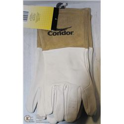 2 PAIRS OF LARGE CONDOR LEATHER WELDING GAUNTLETS
