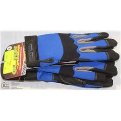 2 PAIRS OF CLUTCH-GEAR MECHANICS GLOVES SIZE MED.