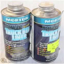 2 CANS OF URETHANES SPRAYABLE TRUCK BED LINER