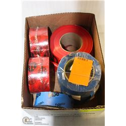 LOT OF TUCK-TAPE, CAUTION TAPE, MASKING TAPE +MORE