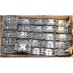 INCOMPLETE CASE OF 1104 GANGABLE ELECTRICAL BOXES