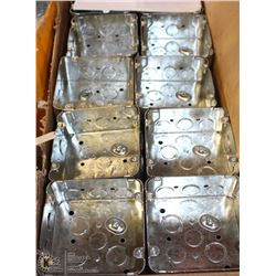 "COMPLETE CASE OF  4-11/16"" ELECTRICAL BOXES"
