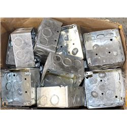 "LOT OF 4""x4"" ELECTRICAL BOXES"