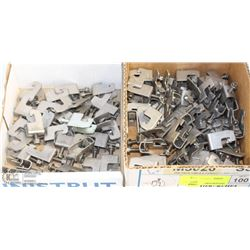 LOT OF ONE-PIECE CABLE/CONDUIT CLAMPS (2 SIZES)