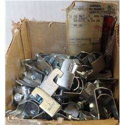 LOT OF LARGE ONE-PIECE CABLE-CONDUIT CLAMPS
