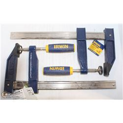 "PAIR OF 12"" IRWIN QUICK-GRIP CLAMPS"