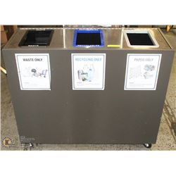3 COMPARTMENT WASTE STATION