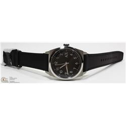 NEW ARMANI EXCHANGE BLACK FACE LEATHER STRAP WATCH