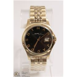 NEW MARC BY MARC JACOBS GOLD PLATED DATE MEN WATCH