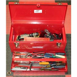 "LARGE 24"" CRAFTSMAN TOOLBOX FULL OF TOOLS"