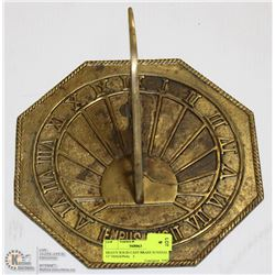 "HEAVY SOLID CAST BRASS SUNDIAL   11"" DIAGONAL   2"