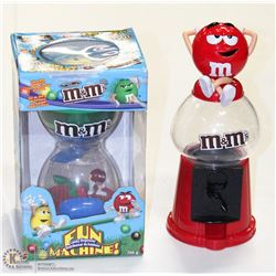 M&M BUBBLEGUM & FUN MACHINE CANDY DISPENSERS