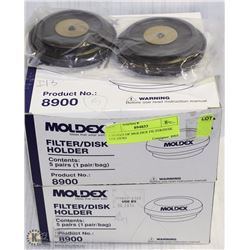 2 BOXES OF MOLDEX FILTER/DISK HOLDERS