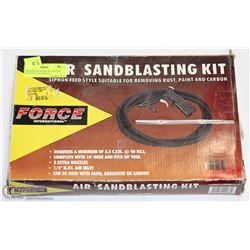 AIR SAND BLASTING KIT SIPHON FEED STYLE SUITABLE