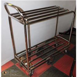 2 SHELF ROLLING SHOP CART