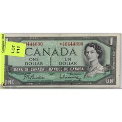 1954 CANADA ONE DOLLAR BILL REPLACEMENT NOTE
