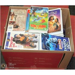BOX OF KIDS VHS TAPES