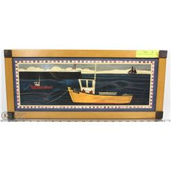 "PICTURE OF A FISHING BOAT 9""X22"""