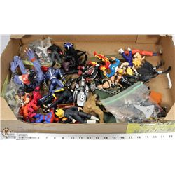 FLAT OF ACTION FIGURES