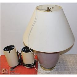 LOT OF 3 TABLE LAMPS
