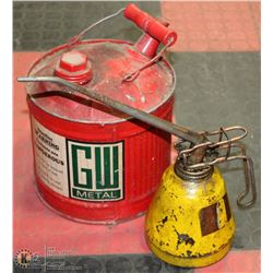 VINTAGE OIL AND JERRY CAN