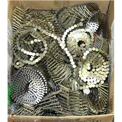 BOX OF ASSORTED NAIL COILS