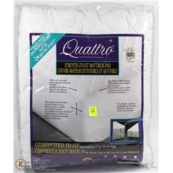 QUATTRO STRETCH TO FIT MATTRESS PAD QUEEN SIZE