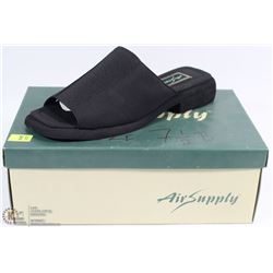 AIR SUPPLY 7.5 BLACK WOMENS SANDLE STYLE DRESS