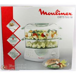 MOULINEX CRYSTALIA 2 TRAY FOOD STEAMER
