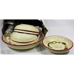 7PC PASTA SET WITH LARGE SERVING BOWL AND 6 BOWLS