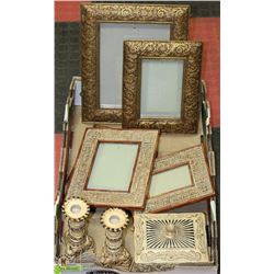 8PC VANITY AND SHOWHOME DECOR INCL JEWELLERY BOX